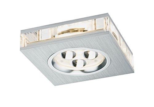 Paulmann 92539 Premium EBL Set Liro eckig LED 3x3W 350mA 9VA 85x85mm Alu geb./Klar 925.39 LED Spot Einbaustrahler Einbauleuchte