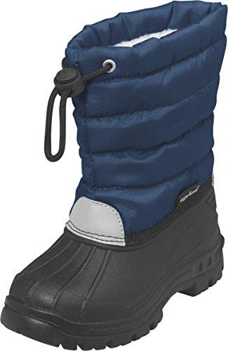 Playshoes Winterstiefel Schneeschuhe Für Kinder Mit Warmfutter, Bottes de neige de hauteur moyenne, doublure chaude garçon Bleu - Blau (11 marine)