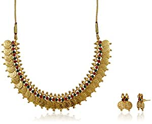 Ava Traditional Jewellery Set for Women (Gold) (S-SM-001)
