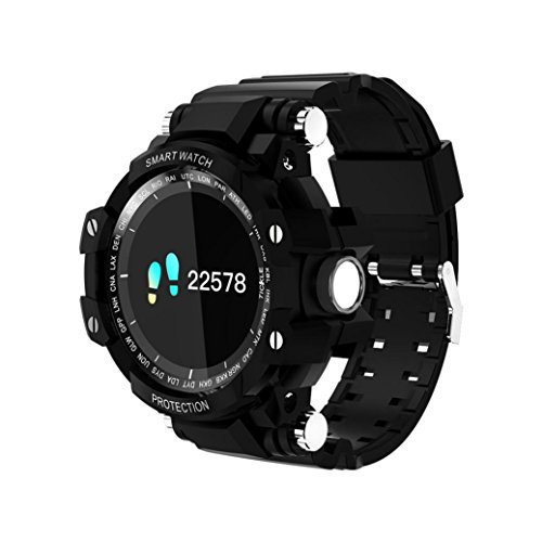 TPulling ModeSmart Armband GW68 Intelligente Armbanduhr Smart Watch GW68 Smart Watch Sport Outdoor IP68 Barometer Thermometer Höhenmesser Smart Armband Sportuhr (Schwarz)