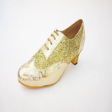 Wuyulunbi@ Donna Samba Sneaker giunzione interna Chunky tallone oro nero argento US8 / EU39 / UK6 / CN39