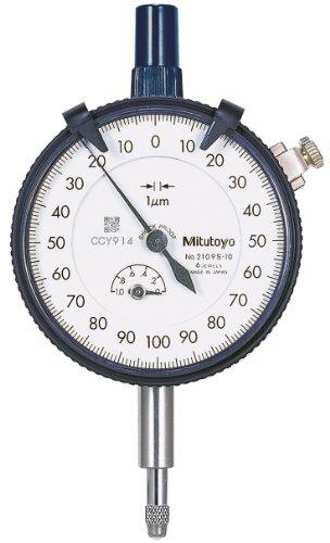 Mitutoyo 2109SB-10 Messuhr, Flache Rückseite, Messbereich 1 mm (1 Messuhr)