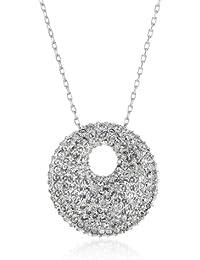 Swarovski Damen-Kette mit Anhänger Metall Stone Medium Kristall rodiniert 38 cm / 2.5 × 2.5 cm 5017144
