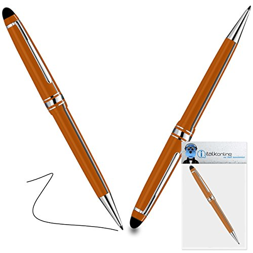 iTALKonline Lenovo IdeaPad Yoga 11-inch Touchscreen Convertible Laptop Orange PRO Captive Touch Tip Stylus Pen with Rubber Tip with Roller Ball Pen  available at amazon for Rs.280