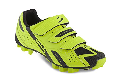 Spiuk Rocca MTB - Zapatillas Unisex, Color Amarillo/Negro, Talla 45