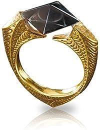Harry Potter-Anillo de Gaunt Horcruxe, chapado en oro