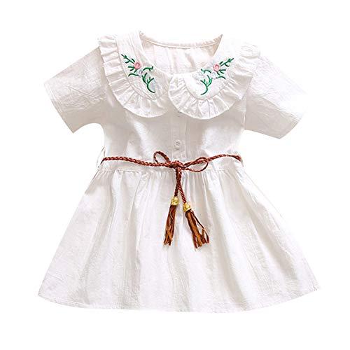 Amphia Mädchenkleid,Baby Kinder Mädchen Kurzarm Blumenrock Prinzessin Kleider Kleidung