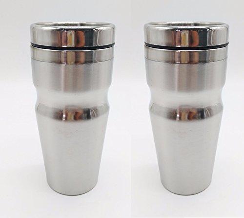 2er Set Edelstahl Thermobecher Isolierbecher Coffee to Go Kaffeebecher 450ml, XL (Edelstahl Isolier-becher)