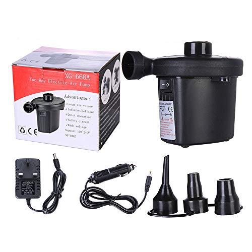 Xinfang Luftpumpe Luftmatratze Pumpe für aufblasbare Blow Up Pool Raft Bett Boot Spielzeug Gymnastikball Schnellbefüllen AC Inflator Deflator mit Düsen, 110-120 V (AC Pumpe)