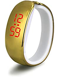Yistu Las señoras de las mujeres del deporte LED Digital reloj pulsera impermeable de la galjanoplastia