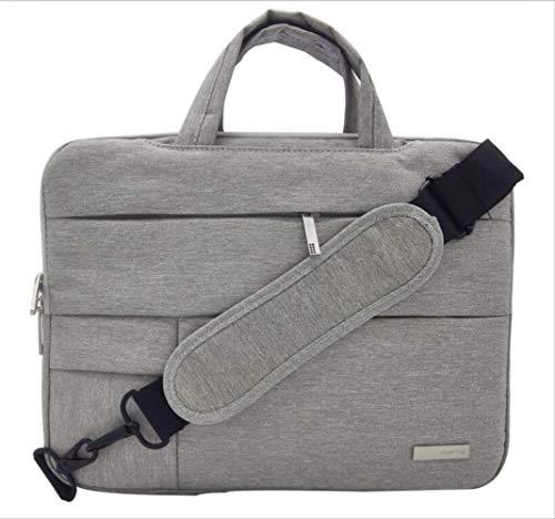 Laptop-Tasche 11 12,5 13 14 15,6 Zoll Umhängetasche Notebook-Tasche für Dell Asus Acer HP Lenovo Xiaomi wasserdichte Handtasche 12 13,3 pro 15 NO Touch Bar Schulter hellgrau