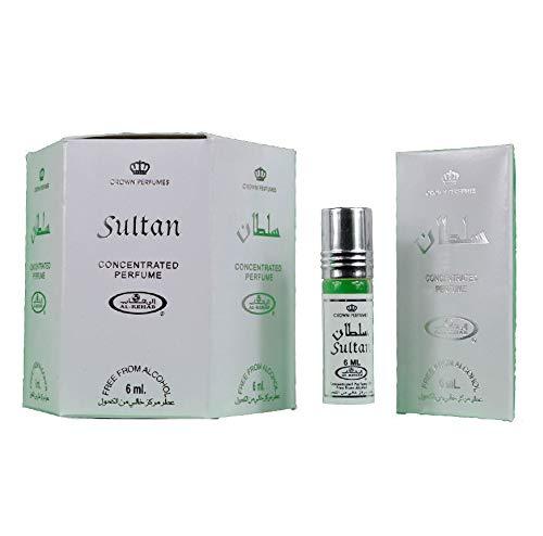Original Genuine Al Rehab Sultan 12 x 6ml Fragrance Attar Perfume Scent Fresh Halal for Men Women Roll On