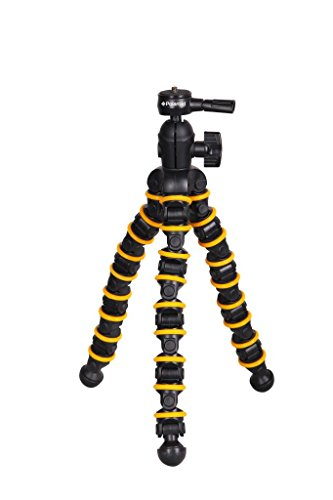 Polaroid Snap and Wrap Flexi Tripod with 360° Rotating Ball Head - Flexible Vertebrae-Like Legs & Rubberized Feet for Endless Conforming Ability & Sure Grip Flexible Snap
