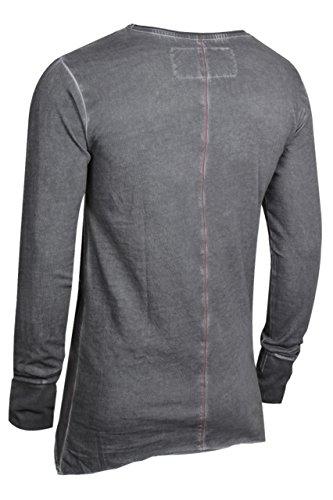 trueprodigy Casual Herren Marken Long Sleeve mit Aufdruck, Oberteil cool und stylisch mit Rundhals (Langarm & Slim Fit), Langarmshirt für Männer bedruckt Farbe: Anthra 2572114-0403 Anthracite