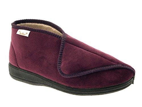 Dr Keller–diabético ortopédico comodidad Zapatillas botas zapatos Amplia Ajuste Velcro para mujer tamaños 3–8, color morado, talla 36.5