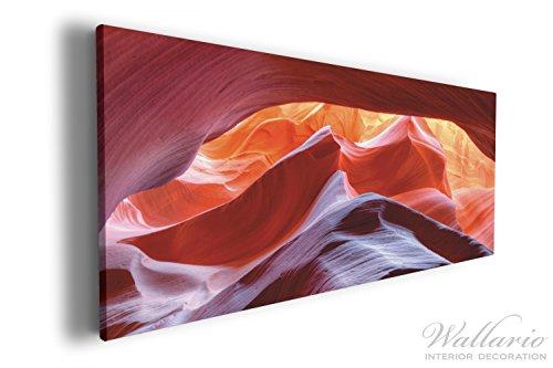 Wallario XXXL Riesen- Leinwandbild Antelop Canyon USA Kalksandsteingebirge in leuchtenden Farben -...