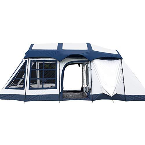 wasserdichte Sonnencreme Zwei Räume und EIN Wohnzimmer 8-10 Personen Camping Family Zelt Rucksack Zelt (Color : RED) ()