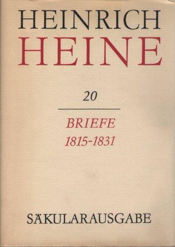 Heinrich Heine Sakularausgabe Band 20 Briefe 1815 1931 Pdf