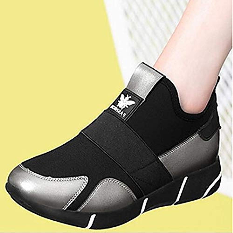 TTscarpe scarpa da donna PU (poliuretano) Spring Spring Spring comfort scarpe da ginnastica piattaforma nero argentoo, argento, US8 EU39 UK6... | Una Grande Varietà Di Merci  | Maschio/Ragazze Scarpa  5e8e5f