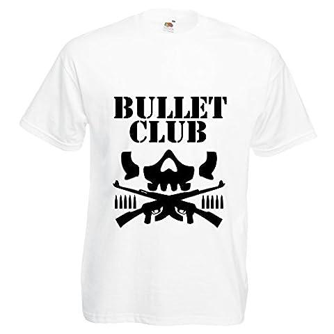 Bullet Club T-shirt New Japan Pro Wrestling Wrestlers Group Wrestler Ring Of Honor Dangerous Vibes (Medium 38/40