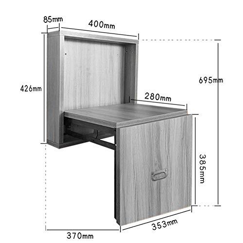 GBXX Mode Kreative Kleine Möbel Anti-Rutsch-Hocker Unsichtbare Wand Klapphocker Hause Fuß Hocker Massivholz Wand Stuhl Ändern Schuh Bank Multifunktions Haushalt Kreative,Weiß,40 * 37 * 69,5 cm