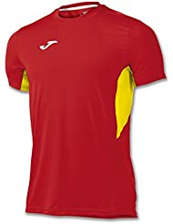 JOMA T-SHIRT RECORD RED-YELLOW S/S 2XS