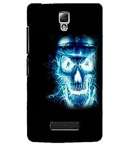 PrintDhaba Digital Skull D-2305 Back Case Cover for LENOVO A2010 (Multi-Coloured)