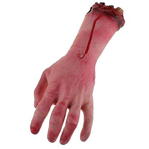(HMILYDYK Broken Finger Hand Scary Bloody Broken Körperteile Halloween 4Requisiten Dekorationen Haunted House Party Prop)
