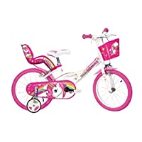 Dino Bikes 164R-UN Unicorn Bike, White & Pink