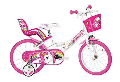 Einhorn Kinderfahrrad Unicorn Mädchenfahrrad -  14 Zoll | Original | Kinderrad Mit Stützrädern, Puppensitz Und Fahrradkorb - Das Einhorn Fahrrad Als Geschenk Für Mädchen