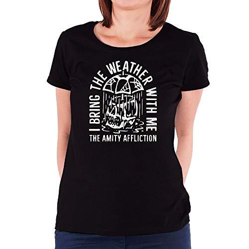 Kcalmup Damen Amit Damen T Shirts - Affliction T-shirt Aus Baumwolle