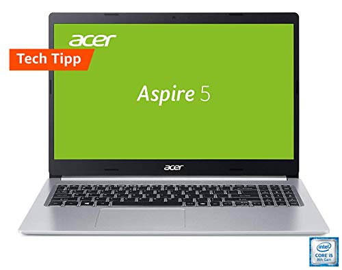 Acer Aspire 5 (A515-54G-59WR) 39,6 cm (15,6 Zoll Full-HD IPS matt) Multimedia Laptop (Intel Core i5-8265U, 8 GB RAM, 512 GB PCIe SSD, NVIDIA GeForce MX250, Win 10 Home) silber