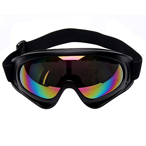 sijueam® Ski und Snowboardbrille Military Tactical CS Shooting UV-Schutzbrille kratzfest Anti Nebel winddicht schwarz Rahmen Winter Outdoor Ausreit Radfahren Motorrad Equipment, multicolor. Colorful (Racing-schutzbrillen Speedo)