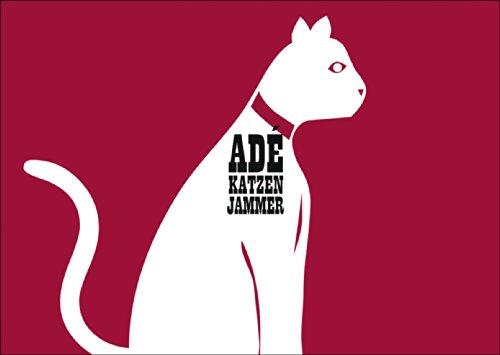 Pictogramm Trost / Aufbau Klappkarte für Menschen in Trennung / Scheidung: Ade Katzen Jammer • auch zum direkt Versenden mit ihrem persönlichen Text als Einleger.