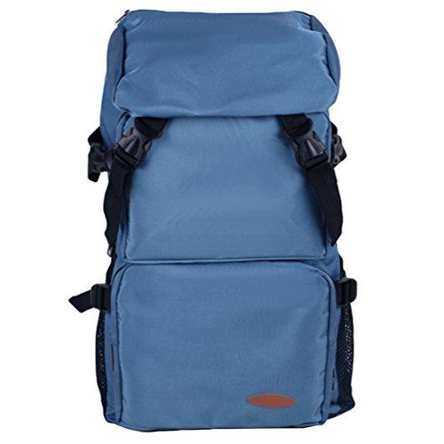 ZKOO Damen & Herren Wasserdicht Wanderrucksack Reiserucksack Laptoprucksack Reisetaschen Ultraleichte Wandern Klettern Rucksack Hell Blau