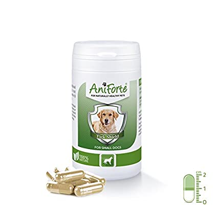 AniForte Tick Shield Tablets Dogs 60pcs - Natural Tick & Flea Treatment for Small Dogs, Easy to Use Tick Protection… 1