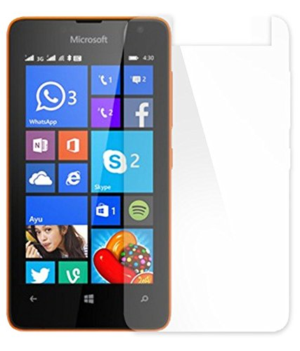 Snoogg Full Body Tempered Glass Screen Protector [ Full Body Edge to Edge ] [ Anti Scratch ] [ 2.5D Round Edge] [HD View] For Nokia Lumia 430  available at amazon for Rs.165
