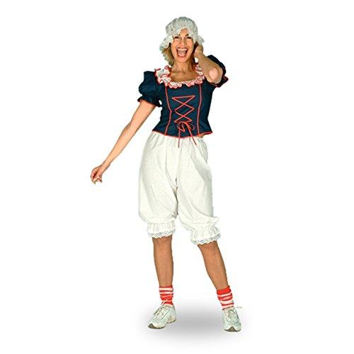 Pluderhose, knielang, Kostümzubehör ideal für Trachten und historische Kostüme, weiss - 48/50