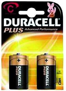 Baby-Batterie DURACELL Plus 1,5V, Typ C, 2er Blister