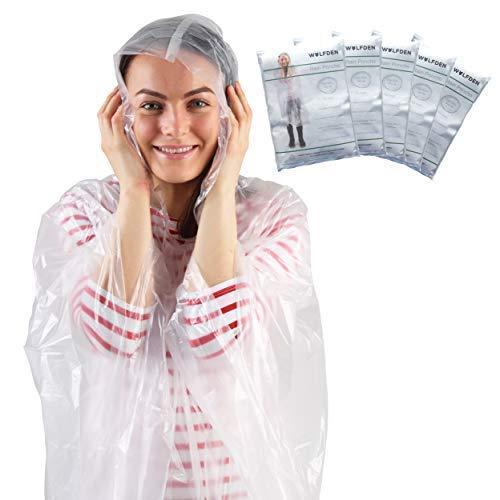 Regenponcho - Regencape für Damen und Herren - Regen Ponchos x5 - Perfekter Regen Poncho für Wandern, Camping, Festivals und Fahrrad