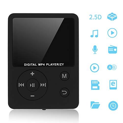 Laduup MP3 T2 Karte MP3 Musikspieler MP4 Musik-Player| Portabler Player, Erweiterbar Bis Zu 32 GB, Unterstützung Von Musik-Player Videoplayer E-Book (C)