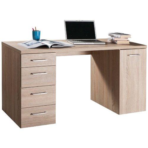 Composad scrivania attrezzata con vani colore rovere