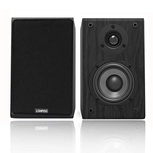 LONPOO Altavoces de estantería pasivos, Hi-Fi Bookshelf Speakers de 2 vías, 75Wx2...