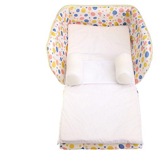Lily & Her Friends–Snuggle Bed Bouncer mit Füllung, Krippe und Co Baby Sleeper, multifunktional faltbar Baby Bett Babytragetasche tragbar und einfach tragen überall Two-in-One-Design (Bouncer Faltbar)
