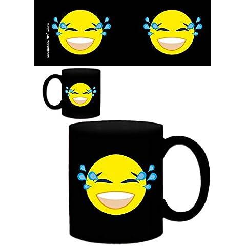 Set: Emoticon, Emoji Smiley Con Gli Strappi Di Gioia Tazza Da Caffè Mug (9x8 cm) E 1 Sticker Sorpresa 1art1®
