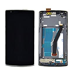 Skiliwah® For Oneplus 1+~ Lcd & Touch Screen Digitizer Assembly With Frame Foroneplus One 1+ Black