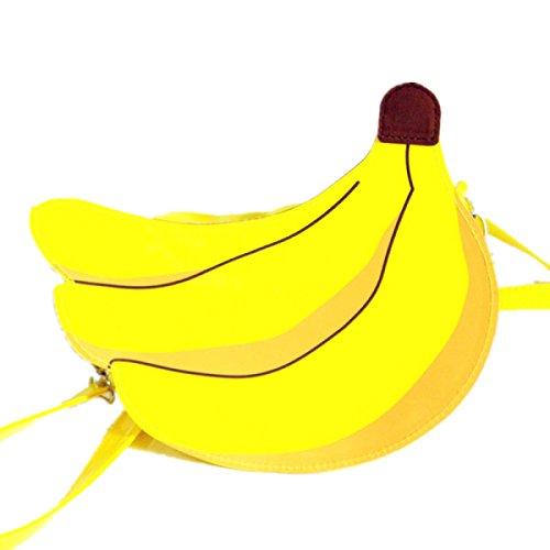 Nuovo Bambini Banana Pacchetto Diagonale Personalità Pacchetto Decorativo Yellow