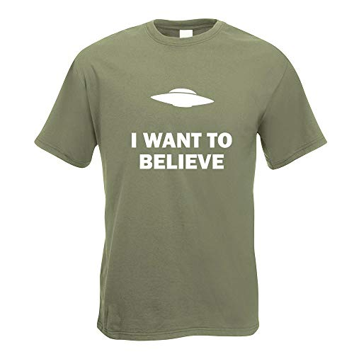 I Want to Believe UFO T-Shirt Motiv Bedruckt Funshirt Design Print