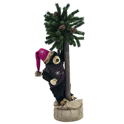 Europalms 105 cm Bear Figure with Christmas Fir