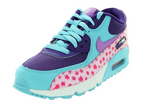 Nike Air Max 90 Prem Mesh (Gs), Scarpe da Corsa Bambina Multicolore (Rosa / Azul (Prsm Pnk / Td Pl Bl-Fchs Glw-Pnk))